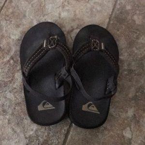 Toddler quicksilver size 6 sandal brown flip flops